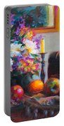 New Reflections Portable Battery Charger by Talya Johnson