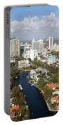 New River And Downtown Fort Lauderdale Portable Battery Charger