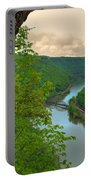 New River Railroad Bridge At Hawk's Nest  Portable Battery Charger