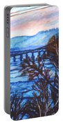 New River Trestle In Fall Portable Battery Charger