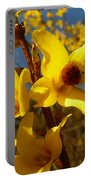 New Season - Old Friend  ... Forsythia In Springtime Portable Battery Charger