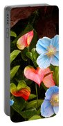 New World And Old World Exotic Flowers Portable Battery Charger