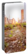 New York City - Abandoned Railroad Tracks Portable Battery Charger