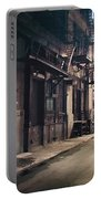 New York City Alley At Night Portable Battery Charger