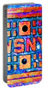 New York City Autumn Street Detail Pop Painting Portable Battery Charger