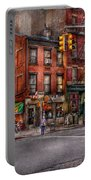 New York - City - Corner Of One Way And This Way Portable Battery Charger by Mike Savad
