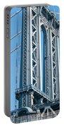 New York City Manhattan Bridge And Skyline Portable Battery Charger