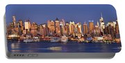 New York City Midtown Manhattan At Dusk Portable Battery Charger