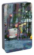 New York City Morning In The Street Portable Battery Charger