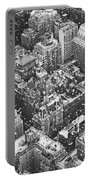 New York City - Skyline In The Snow Portable Battery Charger by Vivienne Gucwa