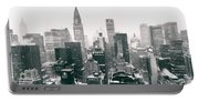 New York City - Snow-covered Skyline Portable Battery Charger