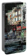 New York City Streets - Ritz Diner Portable Battery Charger