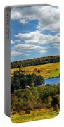 New York Countryside Portable Battery Charger by Christina Rollo