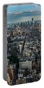 New York From A Birds Eyes - Fisheye Portable Battery Charger