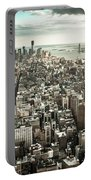 New York From Above - Vintage Portable Battery Charger
