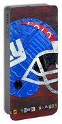 New York Giants Nfl Football Helmet License Plate Art Portable Battery Charger