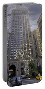 New York In Vertical Panorama Portable Battery Charger