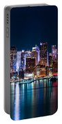 New York Panorama By Night Portable Battery Charger