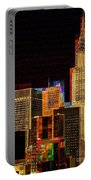 New York City Skyline At Night Portable Battery Charger