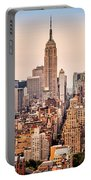 New York Skyline Panorama Portable Battery Charger