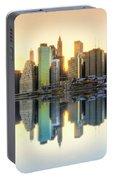 New York Skyline Sunset Portable Battery Charger