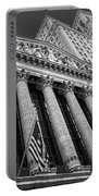 New York Stock Exchange Wall Street Nyse Bw Portable Battery Charger