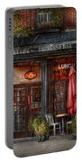 New York - Store - Greenwich Village - Sweet Life Cafe Portable Battery Charger by Mike Savad