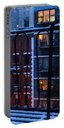 New York Window - Fire Escape In Winter Portable Battery Charger