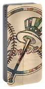 New York Yankees Poster Vintage Portable Battery Charger