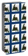 Newfoundland Tartan Map Blocks Blue Trim Portable Battery Charger