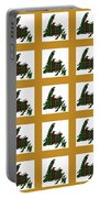 Newfoundland Tartan Map Blocks Gold Trim Portable Battery Charger