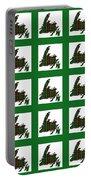 Newfoundland Tartan Map Blocks Green Trim Portable Battery Charger