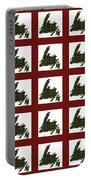 Newfoundland Tartan Map Blocks Red Trim Portable Battery Charger