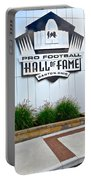 Nfl Hall Of Fame Portable Battery Charger by Frozen in Time Fine Art Photography