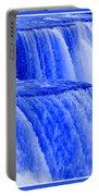 Niagara Falls Closeup In Blue Portable Battery Charger