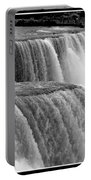 Niagara Falls In Black And White Portable Battery Charger