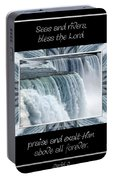 Niagara Falls Seas And Rivers Bless The Lord Praise And Exalt Him Above All Forever Portable Battery Charger