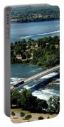 Niagara River And Goat Island Aerial View Portable Battery Charger