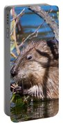Nibbling Muskrat Portable Battery Charger
