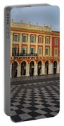 Nice France - The Cheerful Colors Of Place Massena Portable Battery Charger