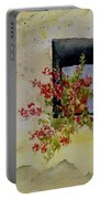 Niche With Flowers Portable Battery Charger