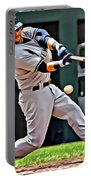 Nick Swisher Painting Portable Battery Charger