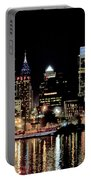 Night At Penn's Landing - Philadelphia Portable Battery Charger