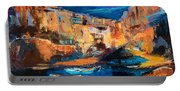 Night Colors Over Riomaggiore - Cinque Terre Portable Battery Charger