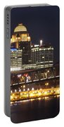 Night Descends Over Louisville City Portable Battery Charger