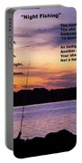 Night Fishing - Poem Portable Battery Charger