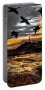 Night Flight Portable Battery Charger by Bob Orsillo
