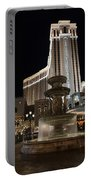 Night Glow At The Venetian Las Vegas Portable Battery Charger