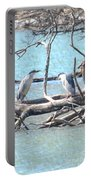 Night Herons Portable Battery Charger