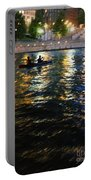 Night Kayak Ride Portable Battery Charger by Margie Hurwich